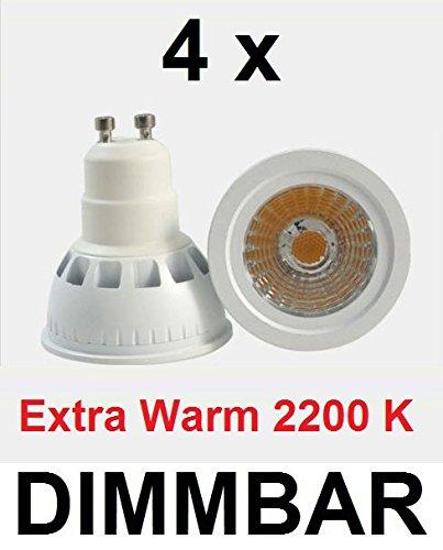 4-x-5-Watt-LED-Strahler-GU10-EXTRA-WARMWEISS-2200-KELVIN-DIMMBAR-FASSUNG-GU10-wie-40-Watt-Halogenlampe-Ideal-fr-alle-Wohnrume-insbesondere-Schlafzimmer-Wohnzimmer-mit-offenem-Kamin-Kaminofen-rustikal-