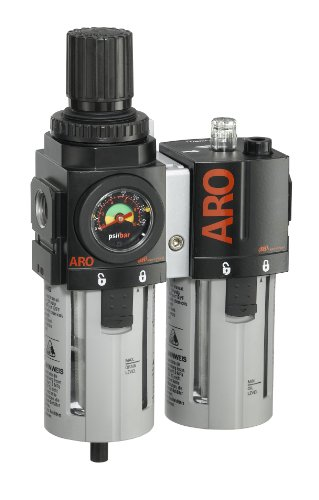 ARO C38341-600-VS Air Filter-Regulator-Lubricator Combination, 1/2