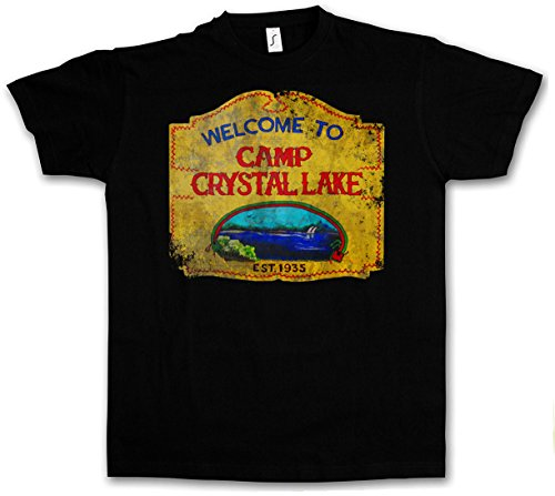 CAMP CRYSTAL LAKE VINTAGE SIGN T-SHIRT -