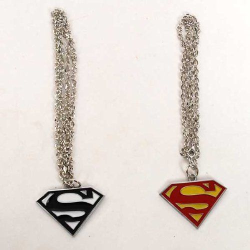 Superman Logo Shaped Pendant Necklace Chain 2pcs Picture