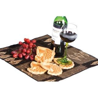 Picnic Plus Outdoor Portable Travel Wine Trail Coasters (4) Wood