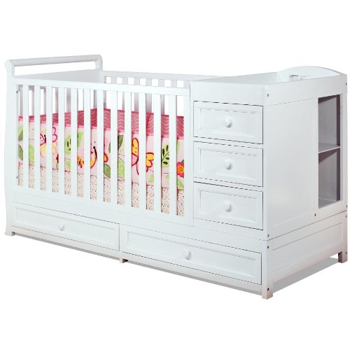 Baby Mile Catherine 3-In-1 Convertible Crib, White front-835647