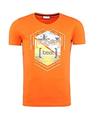 SUMMERFRESH Camiseta Manga Corta Brasil (Naranja)