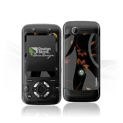 Design Skins für Sony Ericsson F305 - Black Nature Design Folie [Elektronik]