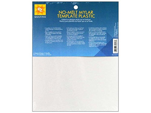 EZ Quilting 882670057A No-Melt Mylar Template Plastic, 6-Piece
