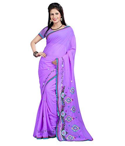 An-Ethnic-Affair-Purple-Chiffon-Traditional-Wear-Sarees-With-Blouse-Piece-9295PurpleFreeSize