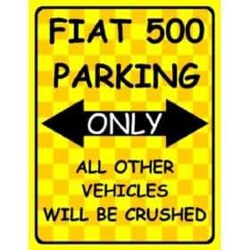 Amazon.com: F2081 FIAT 500 PARKING ONLY FUNNY METAL FRIDGE MAGNET SING