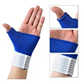 SODIAL(TM) Elastic Thumb Wrap Hand Palm Wrist Brace Splint Support Arthritis Pain GYM