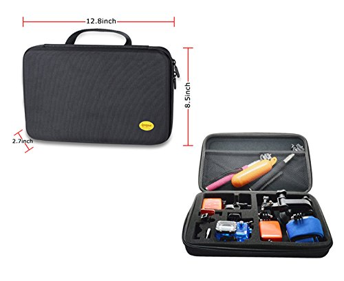 Ipow Gopro Case Carry Travel Protective Storage Bag Case Pouch For Gopro Hero 1/2/3/3+ Camera And Accessories (Larger)