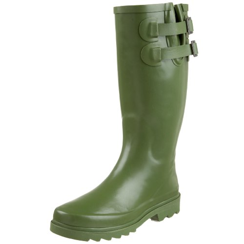 Chooka Women's Signature Solid Dual Buckle Rain Boot