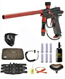 Azodin Blitz Evo Electronic Paintball Marker Gun 3Skull N2 Sniper Set Black/Red