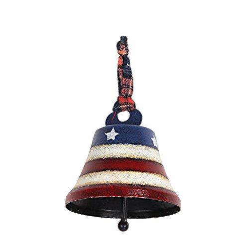 Attraction Design American Flag Door Hanging Bell Decor