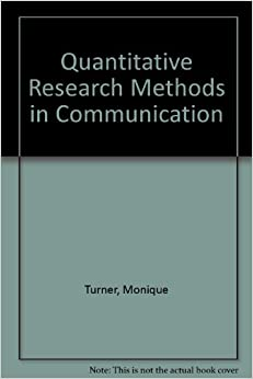 quantitative research methods for communication If you're teaching a quantitative methods course, this is the best of all alternatives very thorough approach --douglas a ferguson, college of charleston engaging examples help students apply information to real world scenarios.