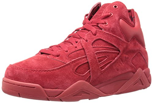 Fila Men's The Cage Fashion Sneaker, Fila Red/Fila Navy, 11 M US