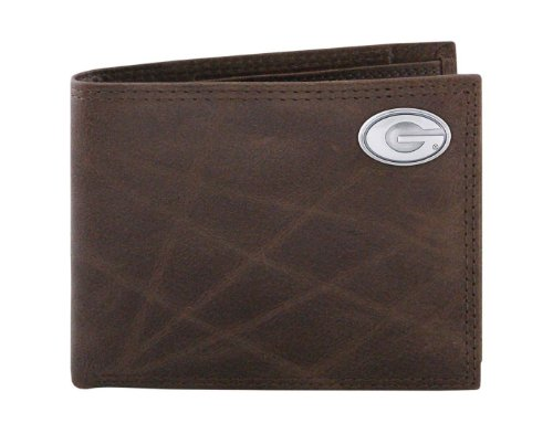NCAA Georgia Bulldogs Brown Wrinkle Leather Bifold Concho Wallet, One Size (Georgia Bulldog Bifold Wallet compare prices)