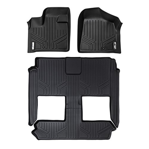 MAXLINER Custom Fit MAXFLOORMAT for Select Dodge Caravan/Chrysler Town & Country Models - (Black) (3 Row Set) (Dodge Chrysler compare prices)