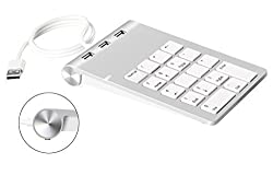 Cateck® USB Numeric Keypad with USB Hub Combo for for iMac, MacBooks,PCs and Laptops