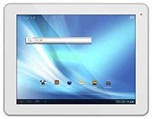 Odys Noon 24,6 cm (9,7 Zoll) Tablet-PC (IPS Display, Dual Core Prozessor, 1,6GHz, 1GB RAM, 16GB HDD, HDMI, WLAN, Android 4.1, Bluetooth 2.1.) weiß/Alu