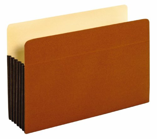 Globe-Weis FC1536G 5 1/4 inch Expansion File Cabinet Pocket Straight Legal Redrope 10 Pack