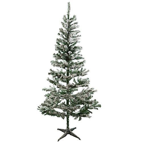 Weihnachtsbaum grün mit Schnee 180 cm künstliche Tanne Christbaum thumbnail