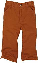 Carhartt Baby Boys\' Washed Duck Dungaree, Carhartt Brown, 18 Months
