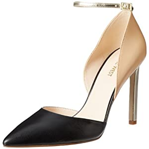 Nine West Women's Timeforsho Dress Pump,Black Multi Leather,9.5 M US