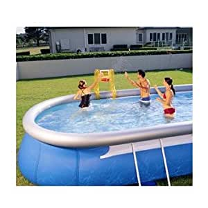 Swimming pool basket ball game set for for Garden pool accessories