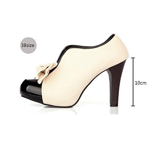 Women's Pumps Ankle Boots Party Bridal Bridesmaid Wedding Shoes with Bow (8 B(M) US - EU 39)