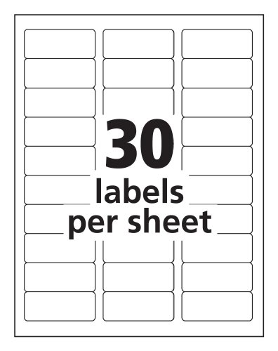 Avery easy peel clear 1 x 2 5 8 inch address labels 750 for Avery 5630 template
