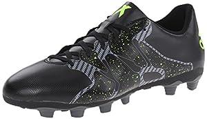adidas Performance Men's X 15.4 Soccer Shoe, Core Black/Solar Yellow/Night Metallic F13, 11.5 M US