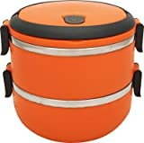 Kids Mandi 2 Layer Stainless Steel Lunch Box (Color May Vary)