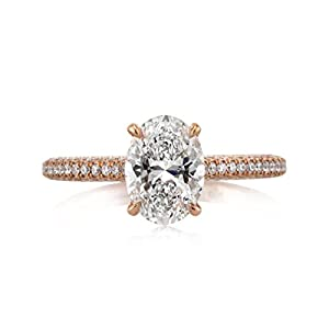 Mark Broumand 1.95ct Oval Cut Diamond Engagement Ring