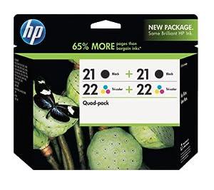 HP Hewlett Packard 21 22 Quad Combo Pack