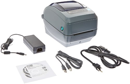 """Zebra Gk420T Monochrome Desktop Direct Thermal/Thermal Transfer Label Printer, 5 In/S Print Speed, 203 Dpi Print Resolution, 4.09"""" Print Width, 100-240V Ac"""