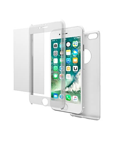 UNOTEC Cover 2 Pezzi Pack Full Protect iPhone 7 Plus Bianco