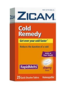Zicam Cold Remedy RapidMelts, Cherry, 25 Quick Dissolve Tablets (Pack of 2)