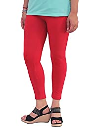 LQQKE Women's Ankle Length Leggings (Pack Of 3)(Red, Beige,Pink)