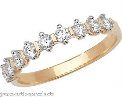 J R Jewellery 411944 9ct Yellow Gold 9 Diamond Rounds Eternity Ring 0.50CTW