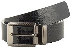 Jackblack Men's Leather Belt (SEVP030, Black, 34)