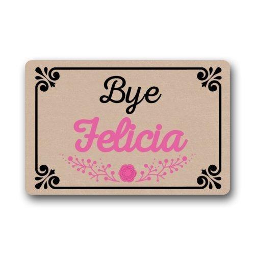"""Good_quality Custom Bye Felicia Doormat Rug Indoor/Outdoor Door Mats Home Decor 23.6""""(L) x 15.7""""(W) Non Slip"""