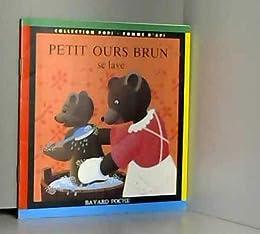 Petit ours brun se lave