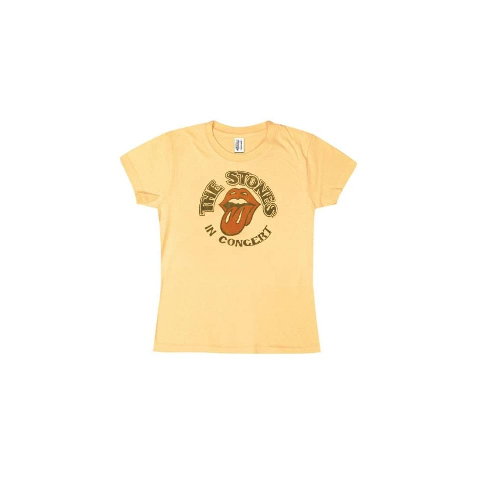 Rolling Stones   In Concert Ladies T Shirt Clothing