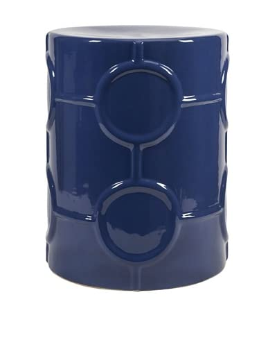 Essentials Marine Blue Ceramic Garden Stool