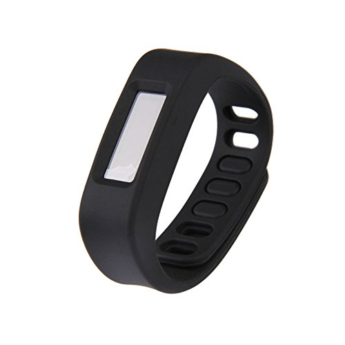 Vakind Bluetooth Wireless Sync Sport Sleep Wristband Smart Bracelet Healthy Fitness Tracker (Black)