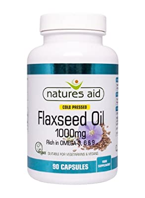 Natures Aid Vegetarian Flaxseed Oil (Cold Pressed) 1000mg (Omega 3, 6 & 9)