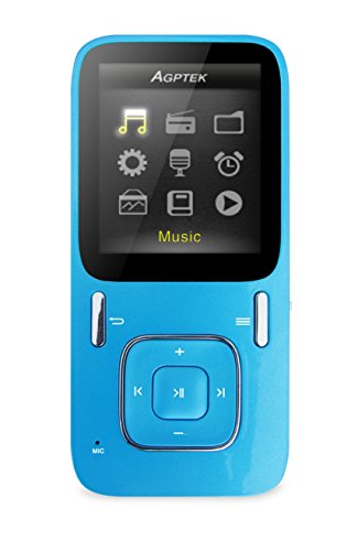 AGPtEK B03 MP3 Player with Micro SD Card Slot, Blue (8GB) (Ipod For Kids compare prices)