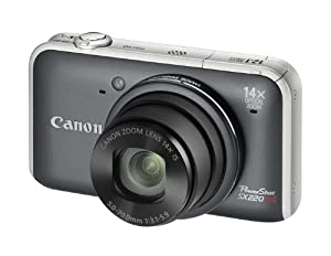 Canon PowerShot SX220 HS Digitalkamera (12 Megapixel, 14-fach opt. Zoom, 7,6 cm (3 Zoll) Display, Full HD, bildstabilisiert) grau