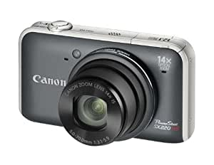 Canon PowerShot SX220 HS Digitalkamera (12 Megapixel, 14-fach opt. Zoom, 7,6 cm (3 Zoll) Display, Full HD, bildstabilisiert) grau