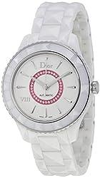 Christian Dior VIII White Dial Ceramic Ladies Watch CD1245EFC001