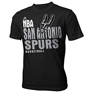adidas San Antonio Spurs Youth Stacked Extreme T-Shirt - Black by NBA Store